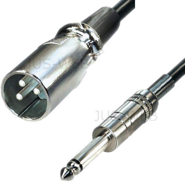 Symmetrischer Audio Adapter aus Metall von 6,3mm Klinke-Buchse auf XLR-Stecker
